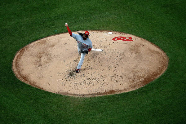 People Art Print featuring the photograph Cincinnati Reds V Washington Nationals 2 by Rob Carr