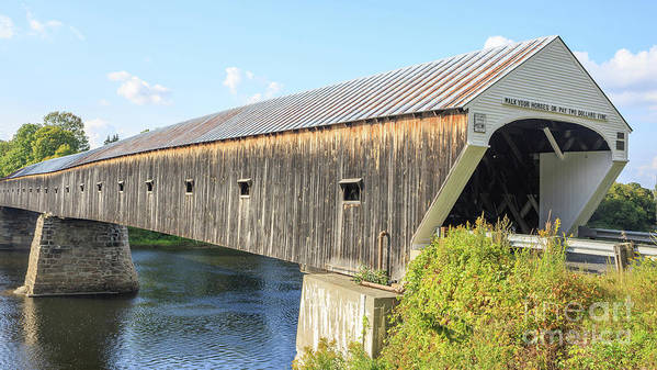 Vermont Art Print featuring the photograph Cornish-windsor Covered Bridge by Edward Fielding