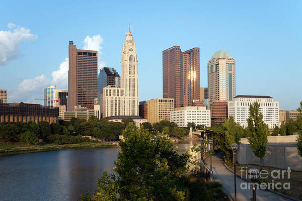 Columbus Art Print featuring the photograph Downtown Skyline Of Columbus by Bill Cobb