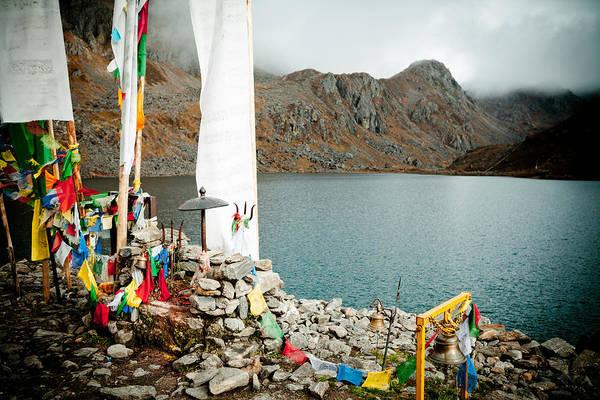 Gosaikunda Art Print featuring the photograph Mountain Lake Gosaikunda Nepal by Raimond Klavins