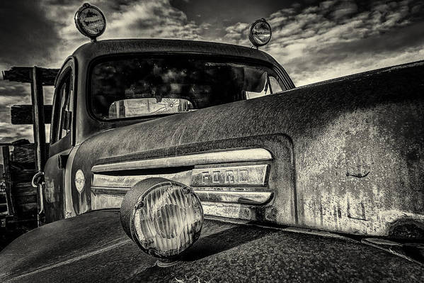 Black And White Art Print featuring the photograph Old Ford by Christian Peay