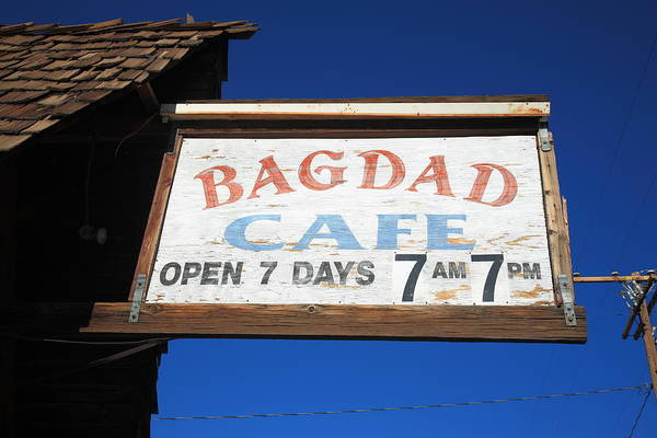 66 Print featuring the photograph Route 66 - Bagdad Cafe by Frank Romeo