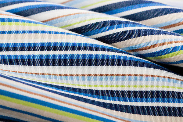 Abstract Print featuring the photograph Striped Material by Tom Gowanlock
