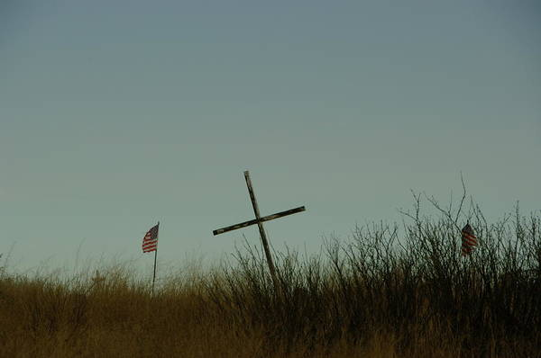 Cross Art Print featuring the photograph The Fallen by Jeff Swan