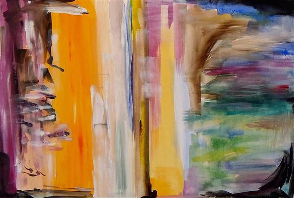 Abstract Art Print featuring the painting Abstract by Troy Thomas