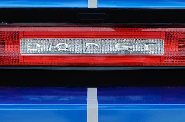 2011 Dodge Challenger Rt Hemi Taillight Emblem Art Print featuring the photograph 2011 Dodge Challenger Rt Hemi Taillight Emblem by Jill Reger