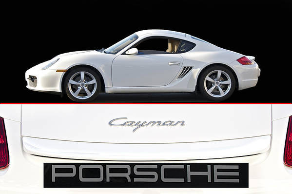 Auto Art Print featuring the photograph 2012 Porsche Cayman R by Dave Koontz