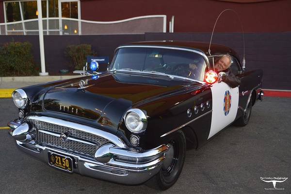 1955 Buick Highway Patrol Art Print featuring the photograph 2150 To Headquarters by Tommy Anderson