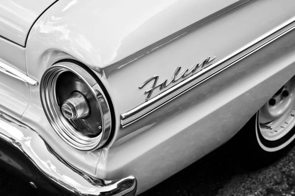 1963 Ford Falcon Futura Convertible Taillight Emblem Art Print featuring the photograph 1963 Ford Falcon Futura Convertible Taillight Emblem by Jill Reger