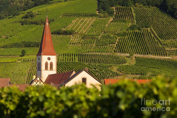 Ammerschwihr Art Print featuring the photograph Alsace Church by Brian Jannsen