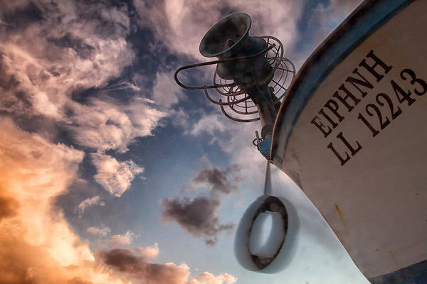Abandoned Art Print featuring the photograph Greek Fishing Boat by Stelios Kleanthous
