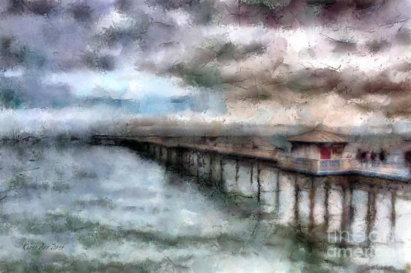 Llandudno Art Print featuring the photograph Llandudno Pier by Karen Ann Jones