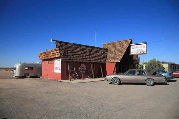 66 Art Print featuring the photograph Route 66 - Bagdad Cafe by Frank Romeo