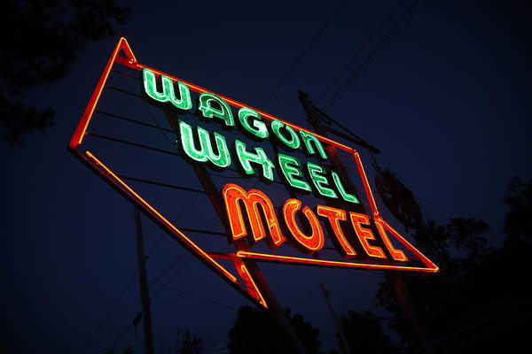 66 Art Print featuring the photograph Route 66 - Wagon Wheel Motel by Frank Romeo