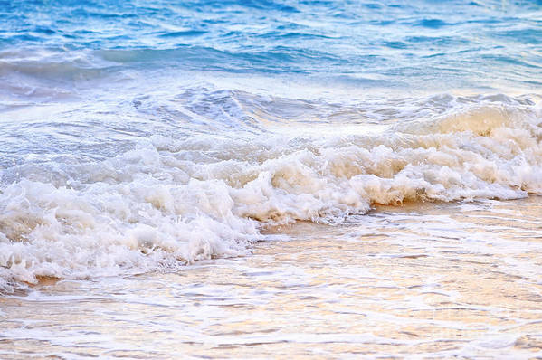 Caribbean Art Print featuring the photograph Waves Breaking On Tropical Shore by Elena Elisseeva