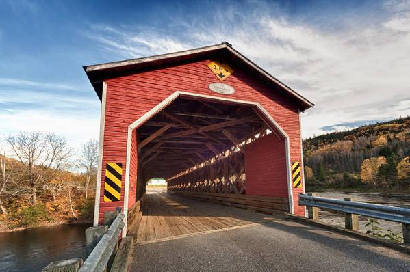 Bridge Art Print featuring the photograph Wooden Covered Bridge by Ulrich Schade