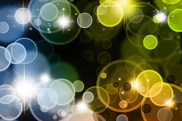Sparkle Art Print featuring the photograph Abstract Background by Les Cunliffe