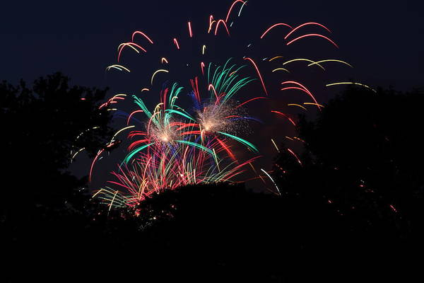 Washington Art Print featuring the photograph 4th Of July Fireworks - 011310 by DC Photographer