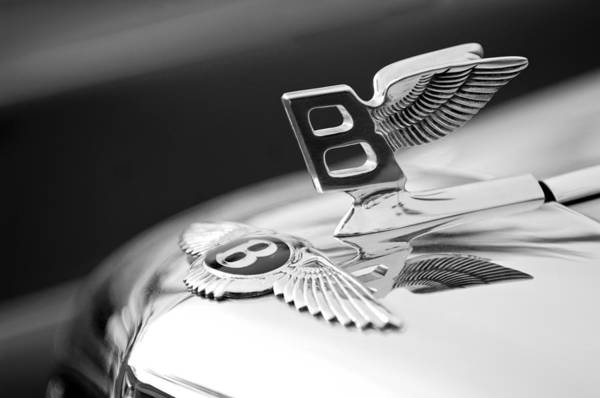 Bentley Hood Ornament Art Print featuring the photograph Bentley Hood Ornament by Jill Reger
