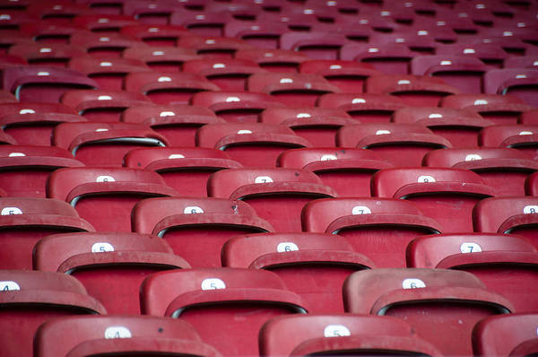 Stadium Print featuring the photograph Stadium Seats by Frank Gaertner