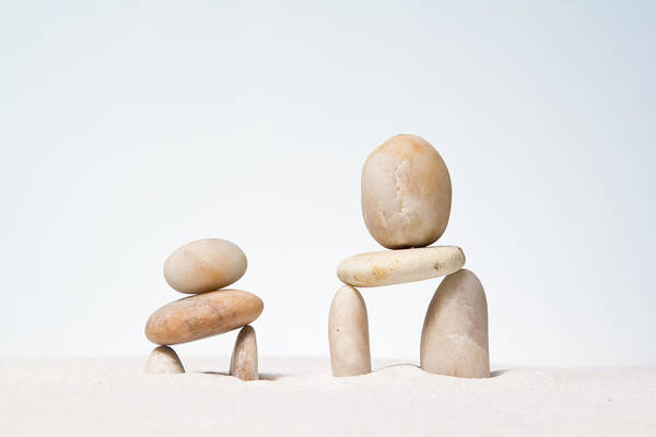 Abstract Art Print featuring the photograph Stones Stacked. by Suphakit Wongsanit