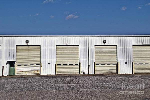 6 7 8 9 Warehouse Not In Use Now This Is A Very Large Trucking Opeation Art Print featuring the photograph 6 7 8 9 Warehouse by JW Hanley