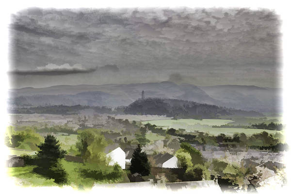 Action Art Print featuring the photograph View Of Wallace Monument And Surrounding Areas by Ashish Agarwal