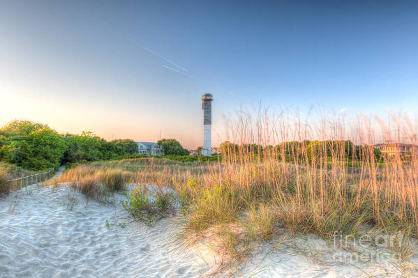 Lighthouse Art Print featuring the photograph Sandy Shore by Dale Powell