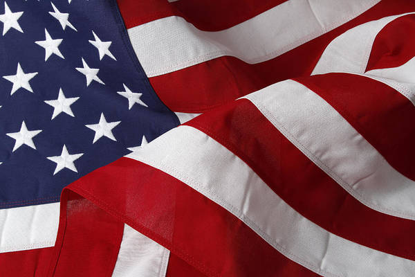 American Flag Art Print featuring the photograph American Flag by Les Cunliffe