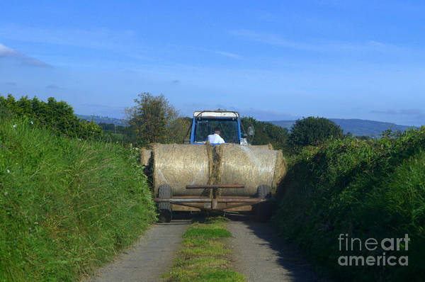 Tractor Art Print featuring the photograph A Country Road by Joe Cashin