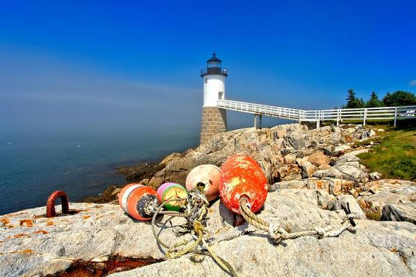 Robinson Point Lighthouse Art Print featuring the photograph A Day Off by Adam Jewell