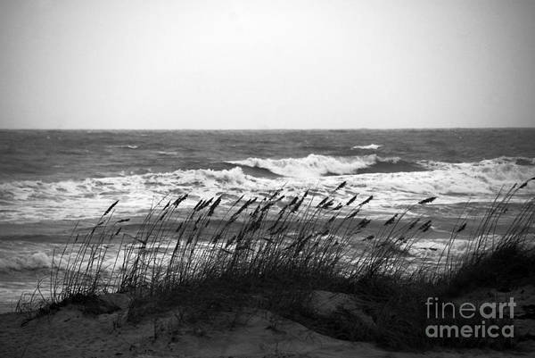 Waves Art Print featuring the photograph A Gray November Day At The Beach by Susanne Van Hulst