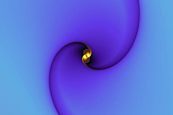 Abstract Art Print featuring the digital art A Little Bit Of Gold by Mark Eggleston