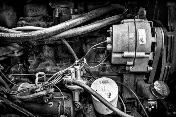Fineart Art Print featuring the photograph A Mechanic's View by Jeff Burton