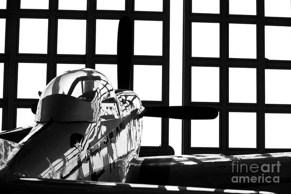 Germany Print featuring the photograph A P-51 Mustang Parked In An Aircraft by Timm Ziegenthaler