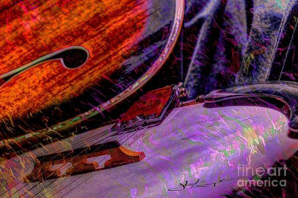 Acoustic Art Print featuring the photograph A Southern Combination Digital Banjo And Guitar Art By Steven Langston by Steven Lebron Langston