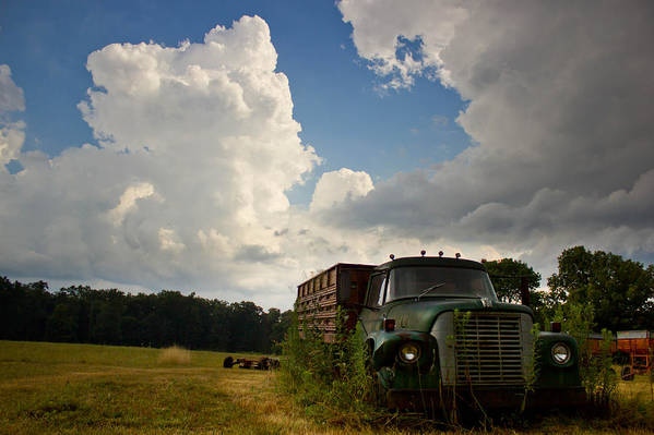 Abandoned Truck Art Print featuring the photograph Abandoned by Aaron Greuel