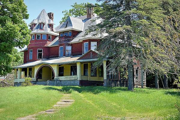 abandoned victorian mansion in canton pennsylvania art print by joel