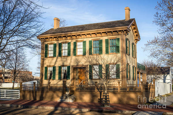 Abraham Art Print featuring the photograph Abraham Lincoln Home In Springfield Illinois by Paul Velgos