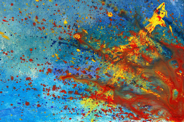 Abstract Art Print featuring the painting Abstract - Acrylic - Just Another Monday by Mike Savad
