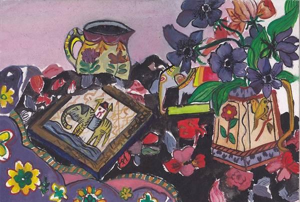 Still Life Art Print featuring the painting Abstract by Pragya Maheshwari