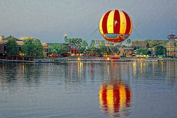 Disney Print featuring the photograph Across The Water by Jenny Hudson