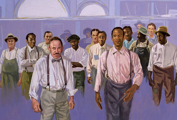 Group Art Print featuring the painting Against All Odds by Colin Bootman
