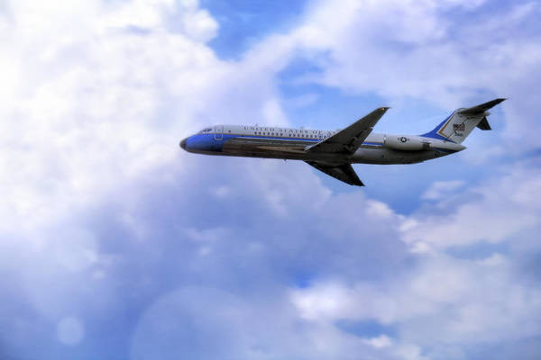 Air Force One Art Print featuring the photograph Air Force One - Mcdonnell Douglas - Dc-9 by Jason Politte
