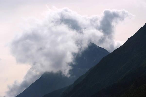 Weather Art Print featuring the photograph Alaska Mountaintop by Scott Lenhart