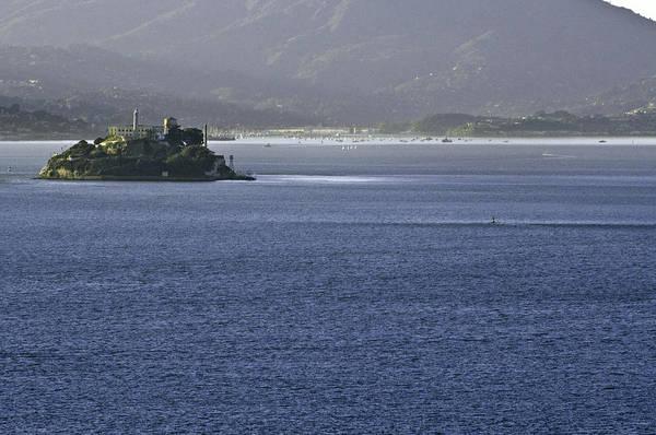 Water Art Print featuring the photograph Alcatraz Island And Richardson Bay by Scott Lenhart