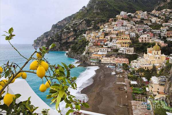 Positano Art Print featuring the photograph Amalfi Coast Town by George Oze