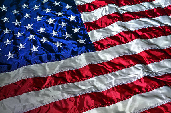 American Flag Art Print featuring the photograph American Flag by Geoffrey Coelho