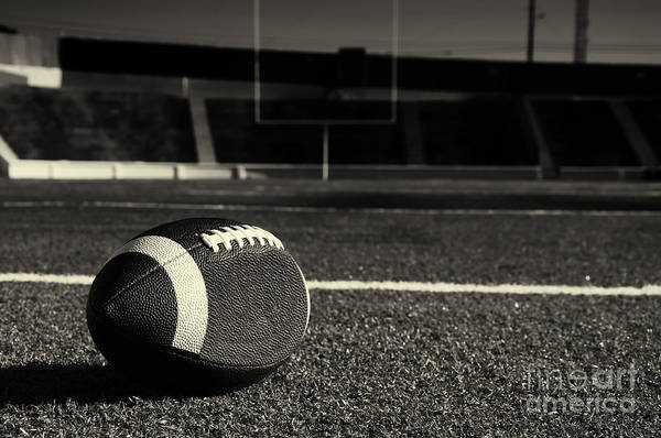 Game Art Print featuring the photograph American Football On Field by Danny Hooks