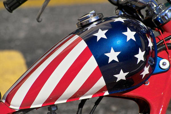 American Art Print featuring the photograph American Motorcycle by Gary Dean Mercer Clark